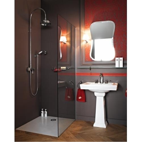 Lavabo 3 trous + colonne rétro céramique noire Ascott Ascott ceramique lavabo douche