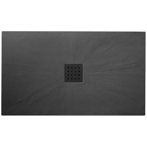 receveur de douche 100x140 pizarra graphite. Black Bedroom Furniture Sets. Home Design Ideas