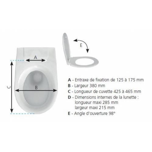 Abattant WC Vallauris Premium SIAMP Cotes