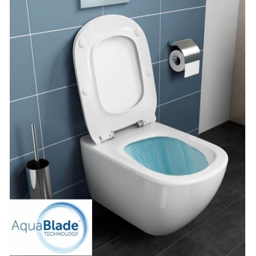 Cuvette suspendue AquaBlade TESI + Abattant frein de chute Tesi eau 1