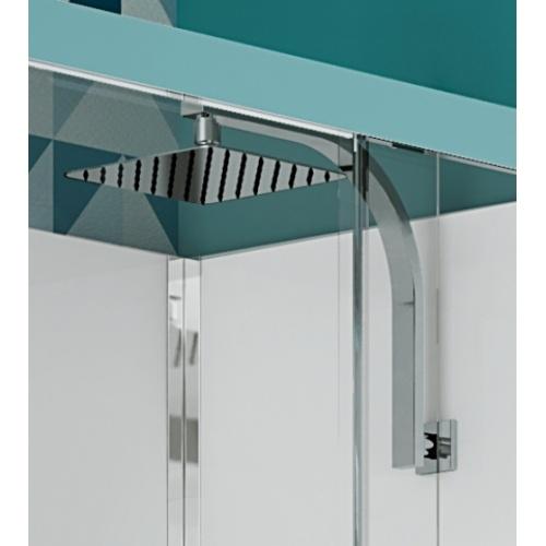 Cabine de douche EDEN+ C80 faible hauteur - Porte pivotante - 80x80cm Zoom douche pluie eden+