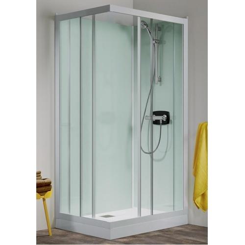 Cabine de douche Kineprime Glass faible hauteur - Coulissante - 70 x 70 cm - Mécanique