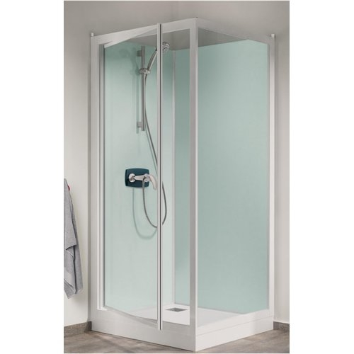 cabine de douche kineprime glass faible hauteur 100 x 80cm. Black Bedroom Furniture Sets. Home Design Ideas