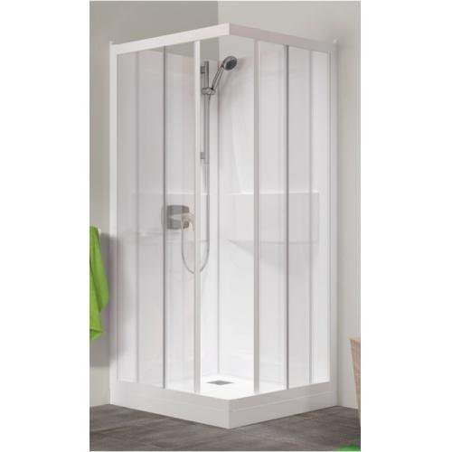 Cabine de douche Kineprime faible hauteur - Coulissante - 70x70cm