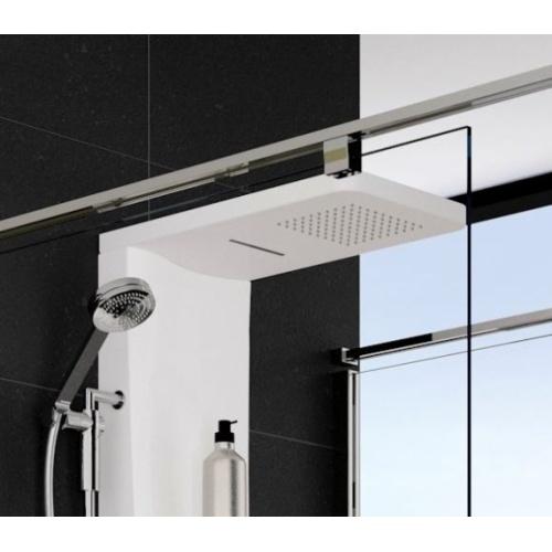 colonne de douche dress plus mitigeur thermostatique blanc mat. Black Bedroom Furniture Sets. Home Design Ideas