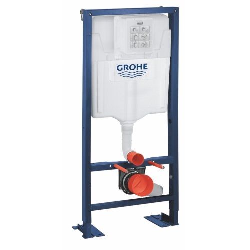 Pack Grohe Rapid SL + Cuvette POP2 + Plaque Chromée Bâti support RAPID SL