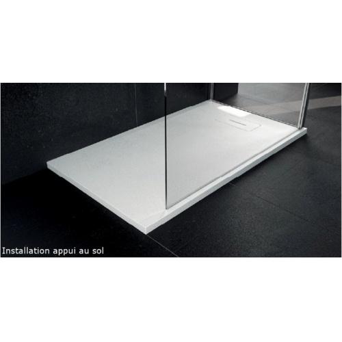 Receveur Extraplat NOVOSOLID Blanc Mat 80x80 cm Novosolid appui au sol