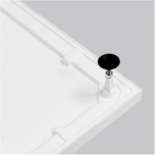 Receveur Extraplat NOVOSOLID Blanc Mat 80x80 cm Novosolid pied