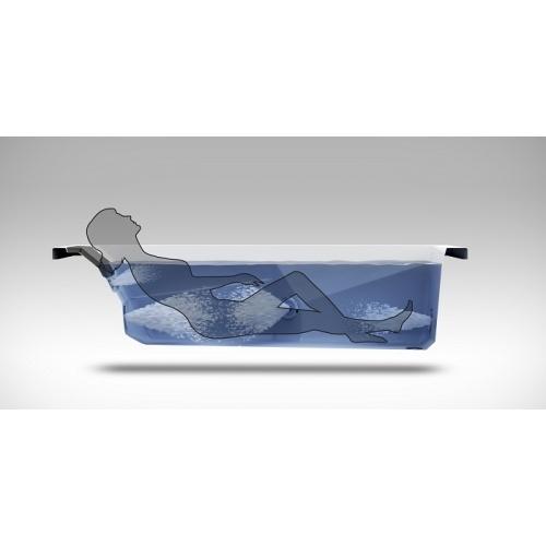 Baignoire Balneo MyWay Jacuzzi gauche 170 x75 avec vidage Myway silhouette côté