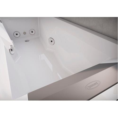 Baignoire Balneo MyWay Jacuzzi droite 170 x75 avec vidage Myway intérieur 170 d