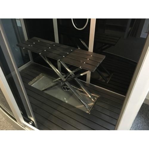 Cabine de douche Premium Rectangulaire 90x115cm Aurlane Premium siege