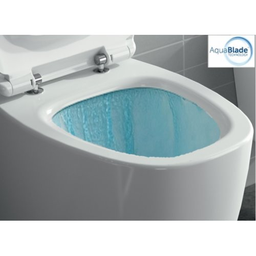 Cuvette suspendue sans bride DEA AquaBlade Blanc Mat Cuvette dea aquablade eau