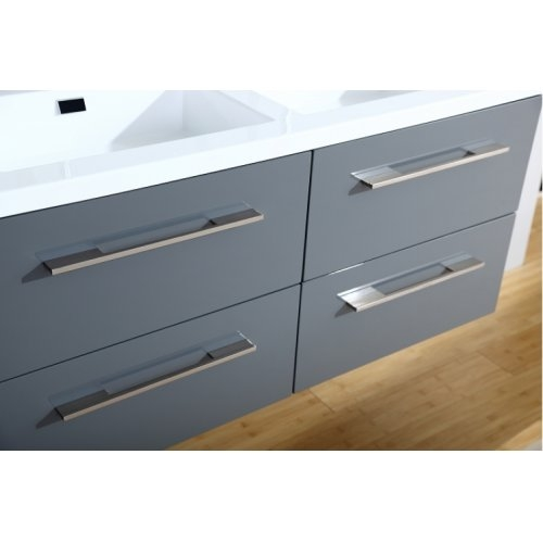 Meuble double vasque 117 Saturn 2.0 Gris Brillant miroir Lite 0 120 gris 4