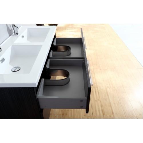 Meuble double vasque 117 Jupiter 2.0 Gris Structuré sans miroir 120 gris