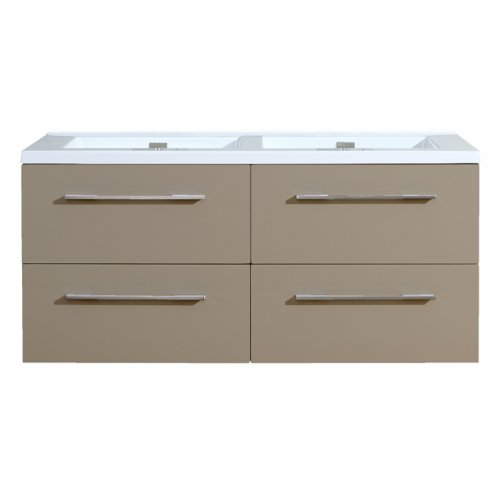 Meuble double vasque 117 Saturn 2.0 Taupe miroir Lite** 0 120 taupe 2