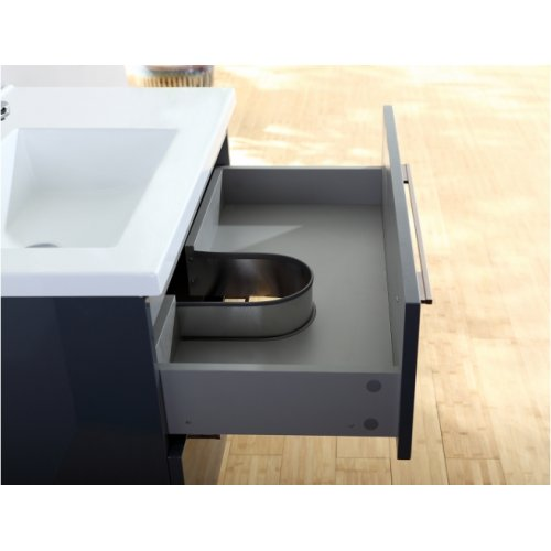 Meuble simple vasque 77 Saturn 2.0 Gris Brillant sans miroir 0 80 gris brillant 1