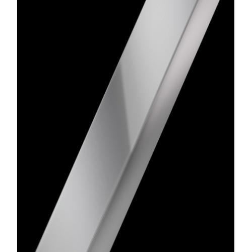 Paroi de douche fixe Lunes H 60cm Serigraphie Silver Profilé silver
