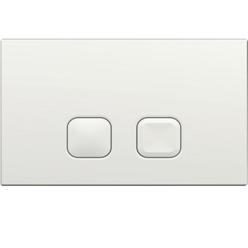 Pack WC Bâti-support Evo + Cuvette sans bride Connect + Plaque Blanche Plaque PLAIN Blanche Regiplast - 183B
