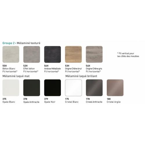 Meuble simple vasque LOFT 140 cm Opale Noir Coloris LOFT/VOGUE G2 2020 Discac