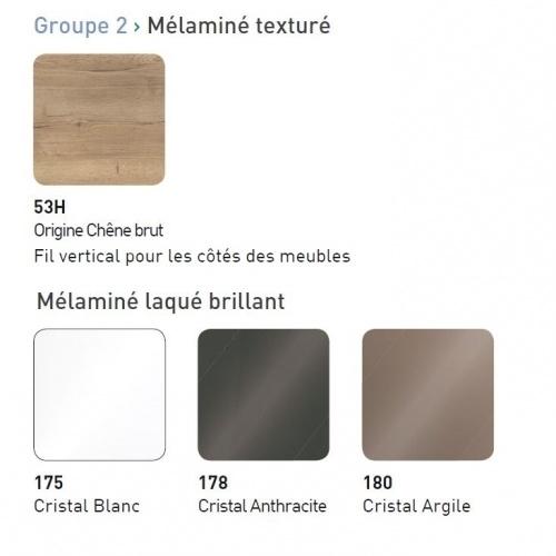 Meuble simple vasque TRENDY 70 cm Cristal Argile Coloris TRENDY G2 - 2019