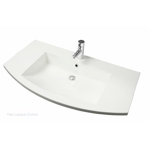 OLD - Meuble simple vasque ONDINE 100 cm Laque Anthracite