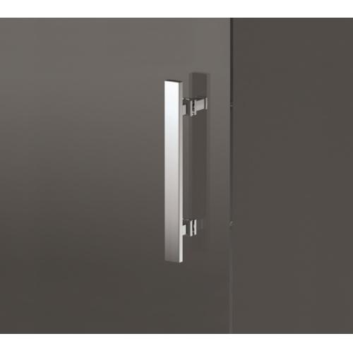 Porte coulissante Zephyros 2P 100 cm, verre transparent, profilés Silver Zephyros maniglia 1