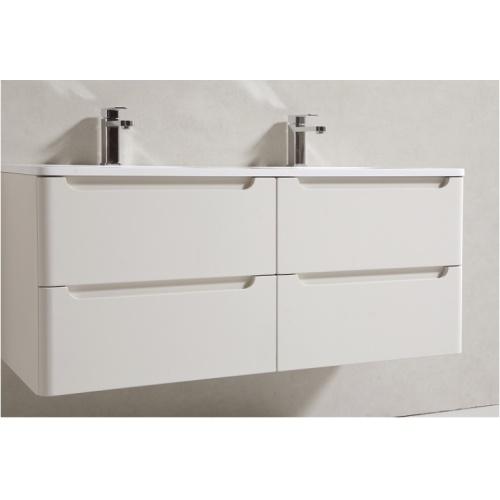 Meuble double vasque 120cm TOOLA Ivoire sans miroir 2r2a9574