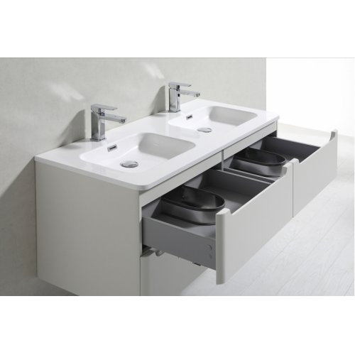 Meuble double vasque 120cm TOOLA Ivoire sans miroir 2r2a9577
