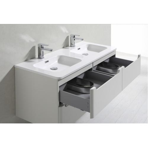 Meuble double vasque 120cm TOOLA Bois Clair sans miroir 2r2a9577