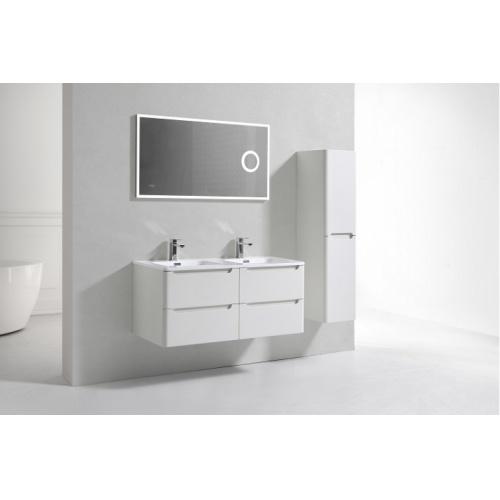 Meuble double vasque 120cm Toola Blanc Ivoire miroir Lite 2r2a9586 2