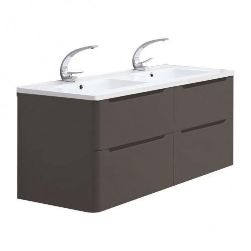 Meuble double vasque 120cm Toola Argile miroir lite 2r2a9534