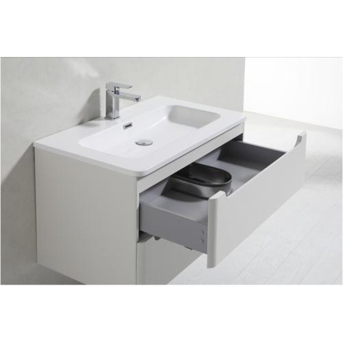 Meuble simple vasque 80cm toola blanc ivoire sans miroir - Meuble patine blanc ivoire ...