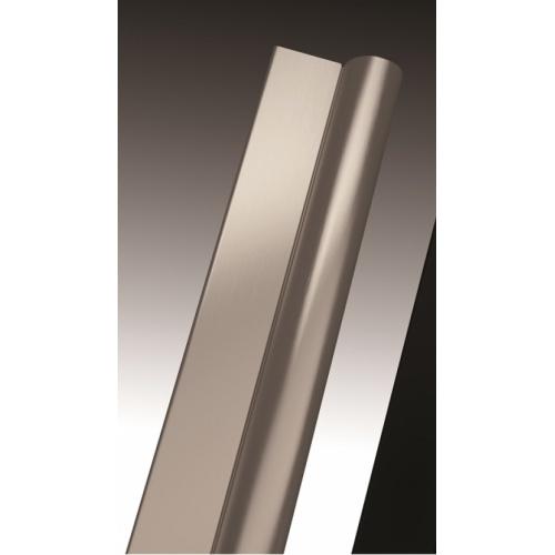Porte coulissante Zephyros 2P 100 cm, verre transparent, profilés Silver Zephyros profilé silver
