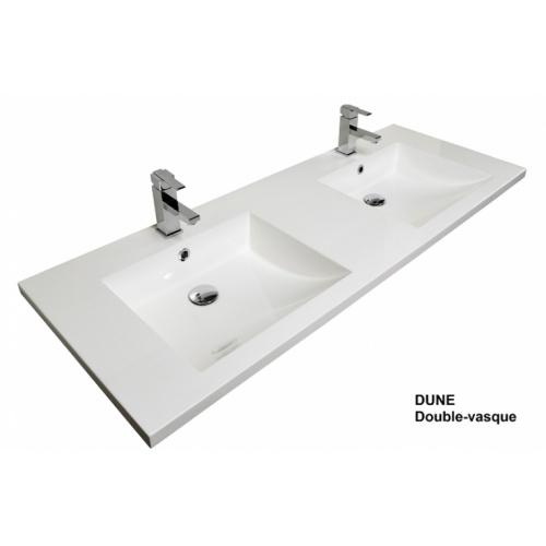 Meuble double vasque VOGUE/LOFT 140 Boréale Blanc Dune double vasque