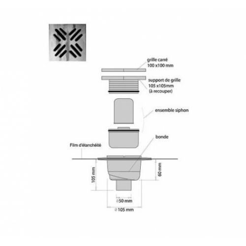 receveur de douche isotanche chantier 150x180 bonde verticale. Black Bedroom Furniture Sets. Home Design Ideas