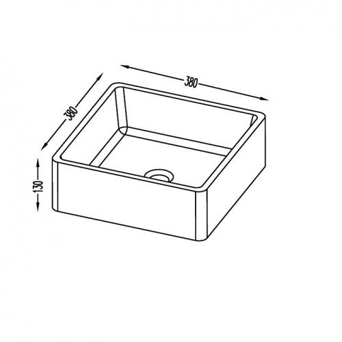 Meuble simple vasque LOFT 140 cm Opale Noir Timbre dimensions