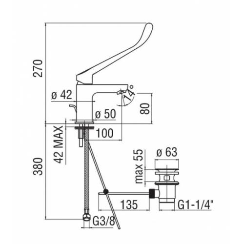 Mitigeur monocommande PMR - AS87118/1CCR** As87118 1ccr fiche technique