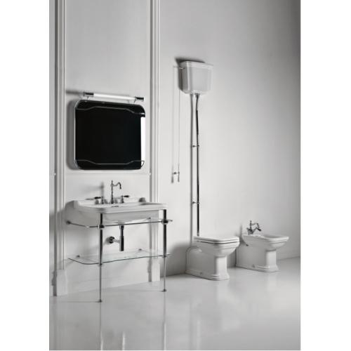 Ens. lavabo rétro 80 cm monotrou + piètement chromé WALDORF Wd91951 amb