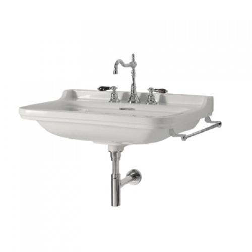 Ens. lavabo rétro 80 cm monotrou + piètement chromé WALDORF Wd10055