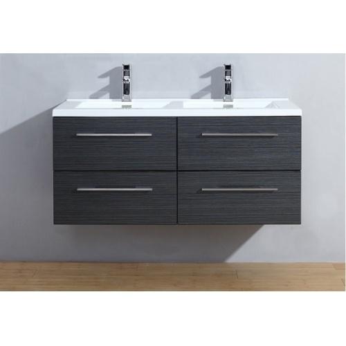 Meuble double vasque 117 Jupiter 2.0 Gris Structuré sans miroir 120 gris struct ss miroir
