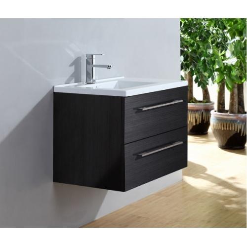 Meuble simple vasque 77 Jupiter 2.0 Gris Structuré SANS miroir City 80 gris simple
