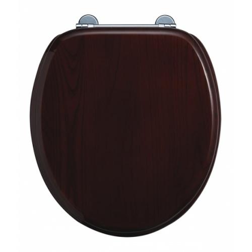 WC BURLINGTON avec levier de réservoir en céramique Taille basse 520 - Abattant frein de chute Acajou Abattant standard burlington s12 acajou sans poignée