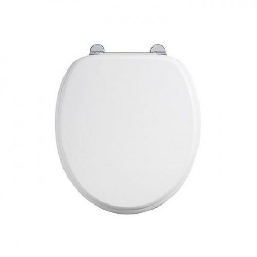 WC BURLINGTON avec levier de réservoir en céramique Taille moyenne 520 - Abattant frein de chute Blanc Abattant burlington blanc
