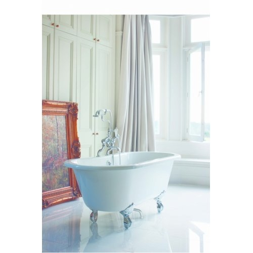 baignoire windsor burlington 150 cm pied griff chrom. Black Bedroom Furniture Sets. Home Design Ideas