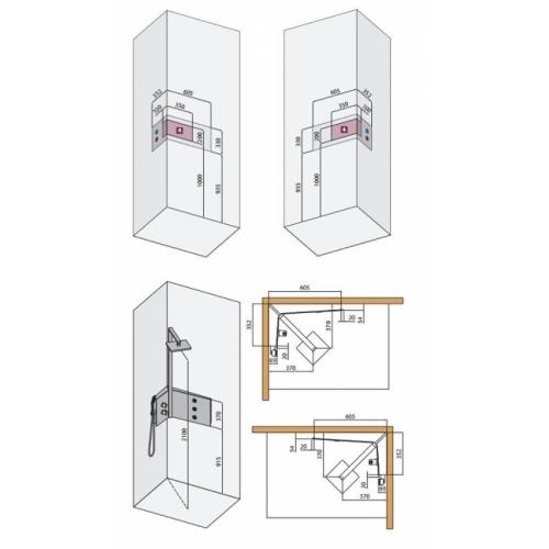 Colonne de douche SINT Standard Mécanique - Blanc Colonne sint côtes