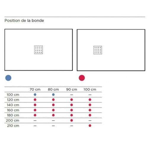 Receveur de douche 70x100 Liso Enmarcado Frontal Graphite Position bonde
