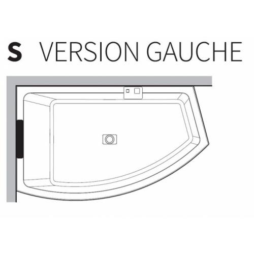Baignoire asymétrique DIVINA O Hydro Plus Blanc Mat - Sans robinetterie - Version Gauche Divina o version gauche