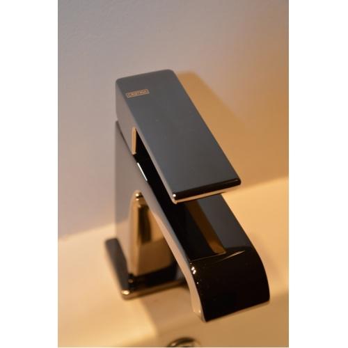 Mitigeur lavabo QUADRI S Chromé Noir - QS22172 - ONDYNA* Qs22172 (3)