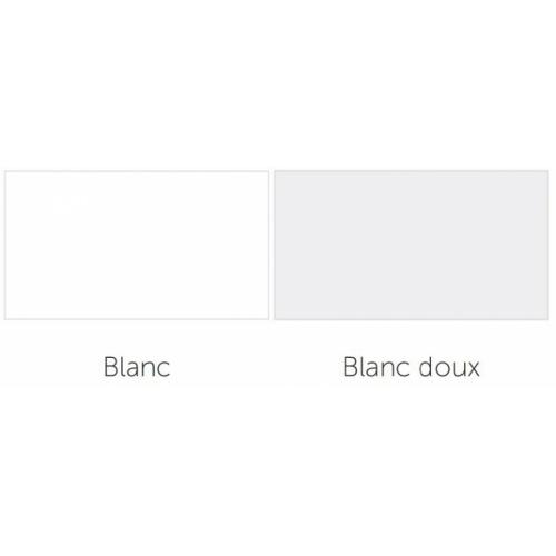 Receveur de douche 1/4 cercle New Victory 80 x 80 cm Blanc - Bord 11.5 cm Blanc blanc doux