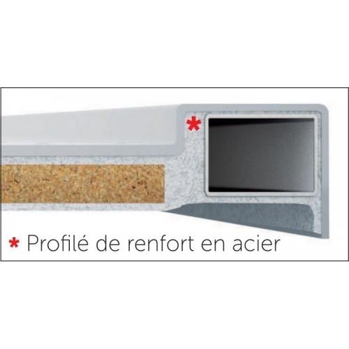 Receveur de douche 1/4 cercle New Victory 80 x 80 cm Blanc - Bord 11.5 cm Profilé de renfort new victory